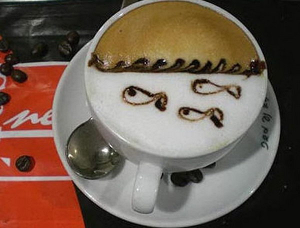 fish coffee art 2