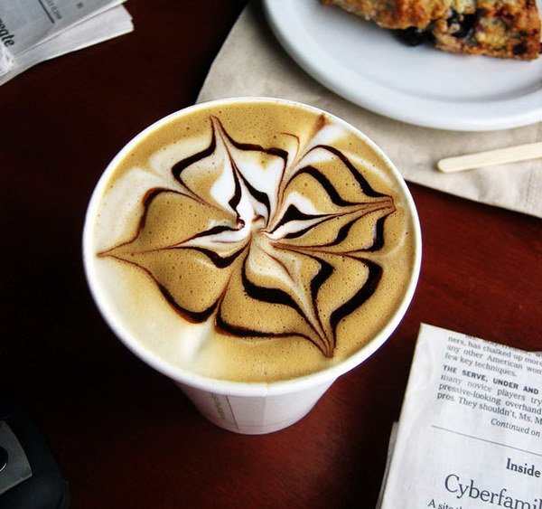 flower coffee art 18