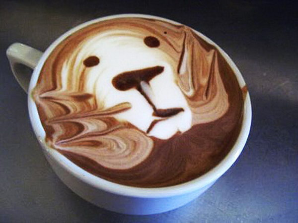 lion coffee art 5