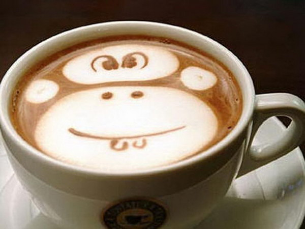 monkey coffee art 9