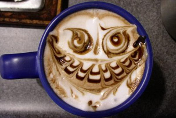owl coffee art 28
