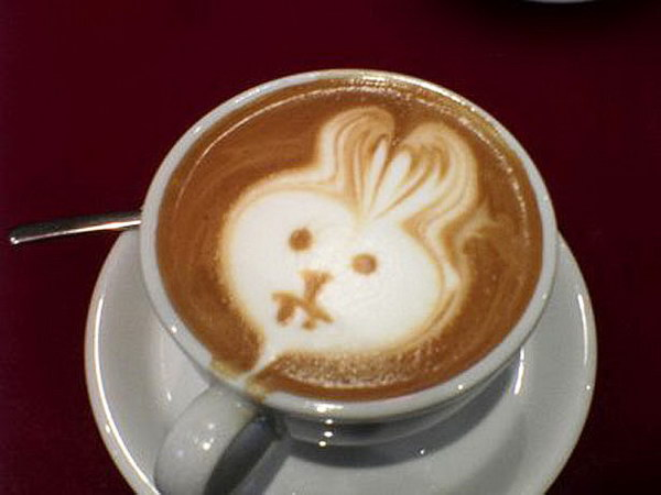 rabbit coffee art 10