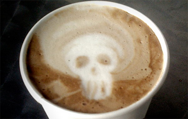 skull coffee art 51