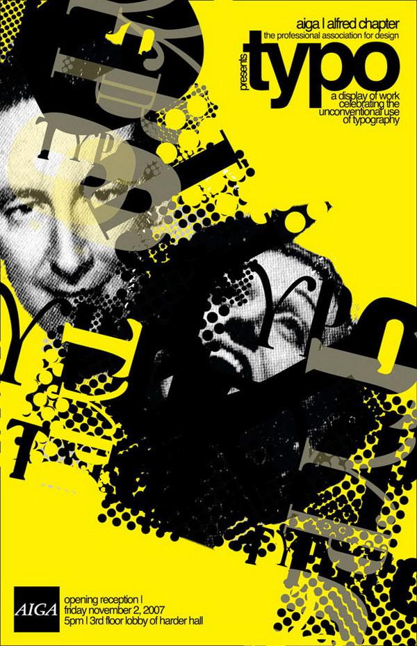 aiga typo show typographic poster 19