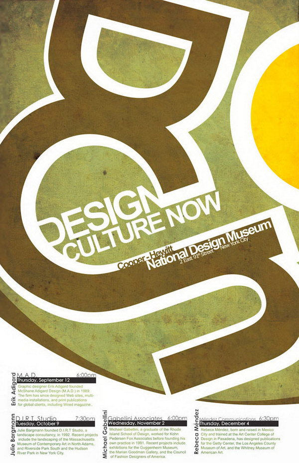 design culture now typographic poster 20