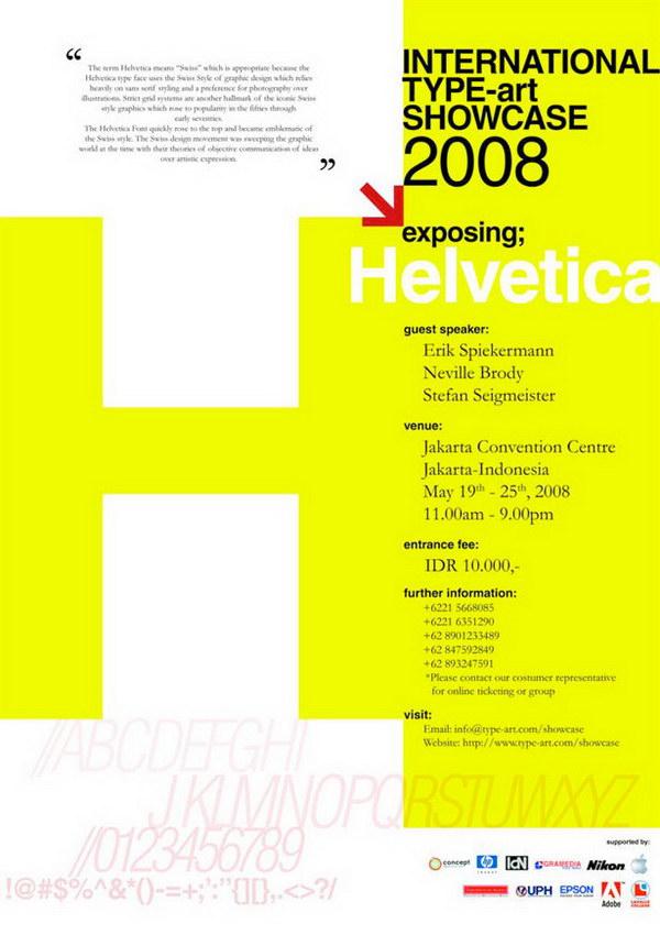 helvetica typographic poster 21