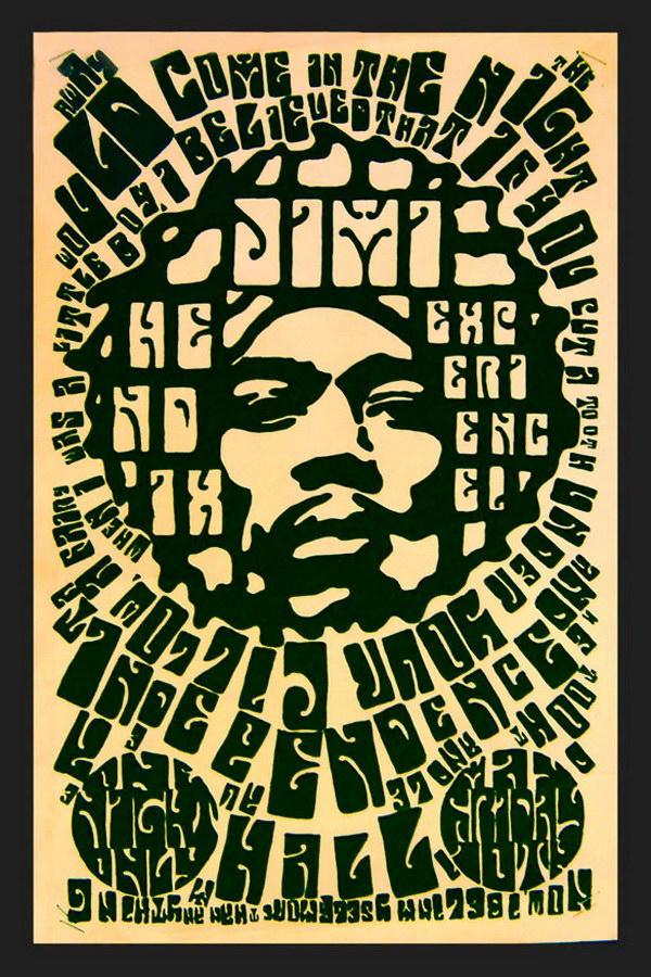 jimi hendrix type poster 6