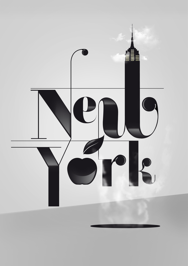 new york typographic poster 55