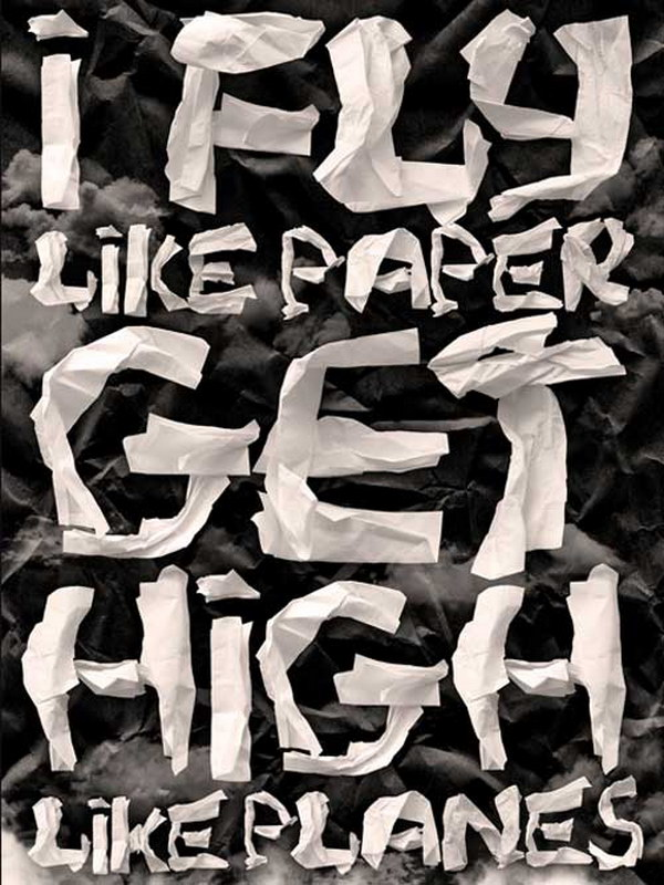 paper effect typographic poster 52
