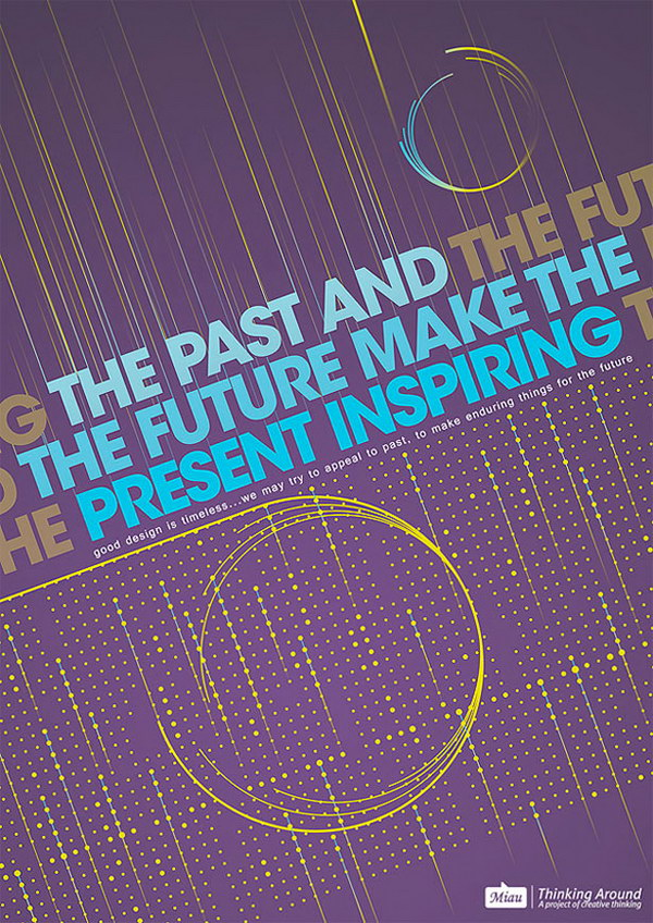 past future typographic poster 29