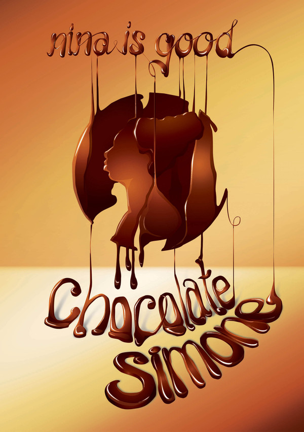 simone chocolate typographic poster 45
