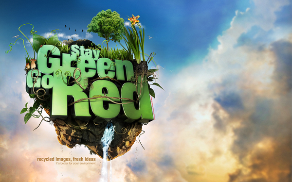 stay green go red poster 39