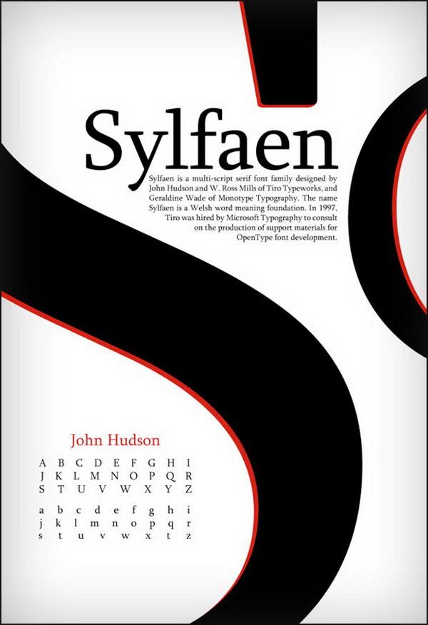 sylfaen type poster 14