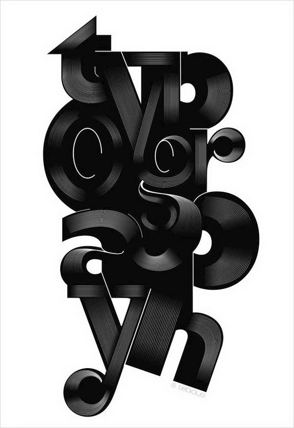 typography poster is tedius 15