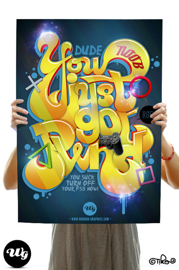 typography poster pwnd 31