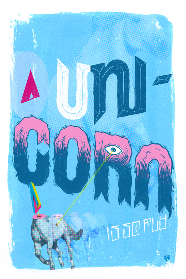 unicorn is so fly typographic poster 46