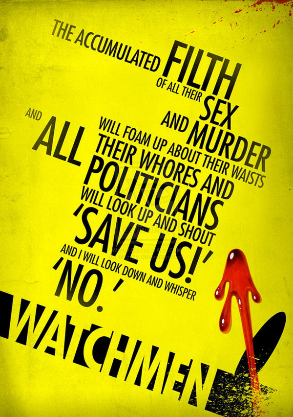 watchmen quote type poster 9