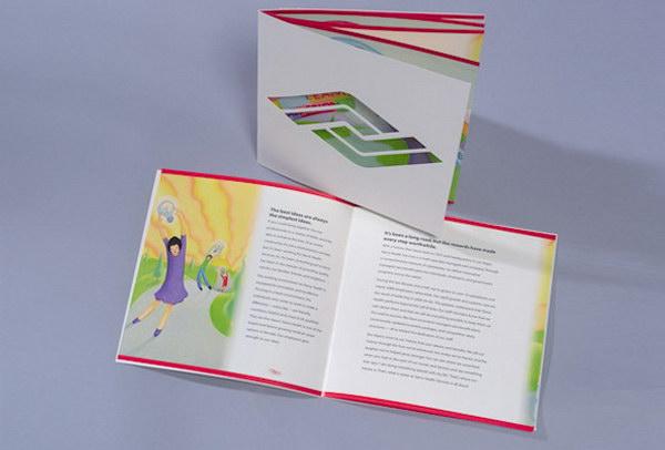 die cut booklet 34