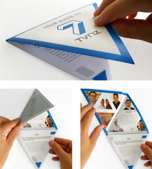 triangular folding brochure 3