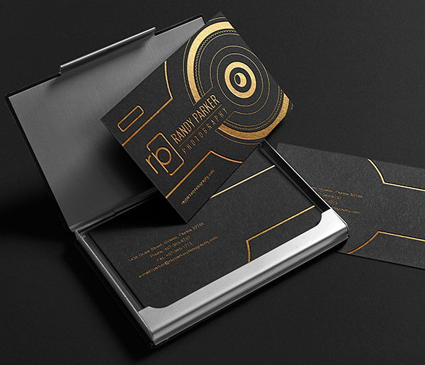 business card cards awesome designs inspiration gold wasted team