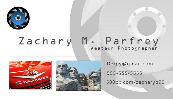 photography business cards 50