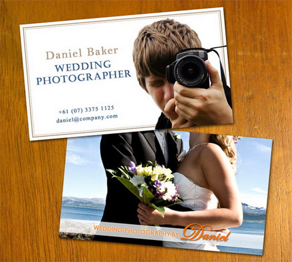 wedding photo business card 39