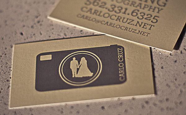 wedding photography business card 13
