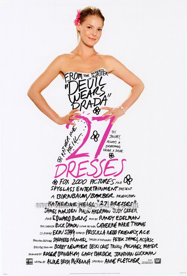 27 dresses typography movie poster 1