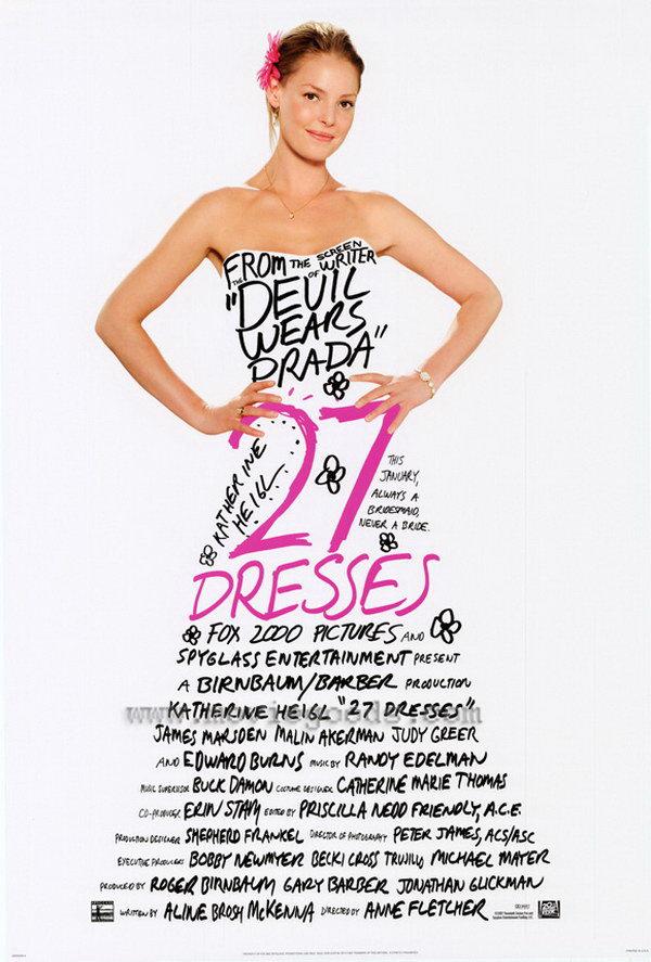 27 dresses typography movie poster 1
