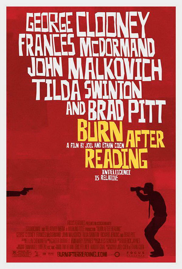 burn after reading movie poster 16