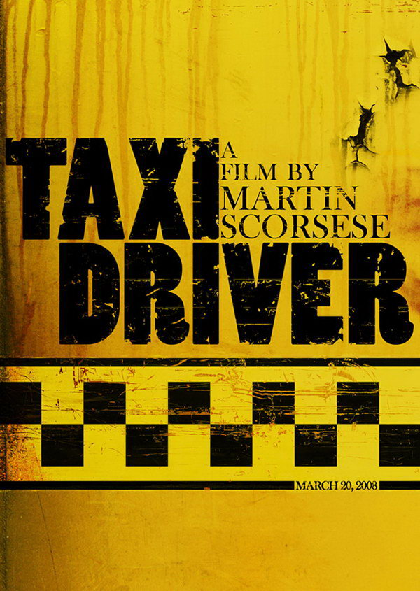 taxi driver typography movie poster 15