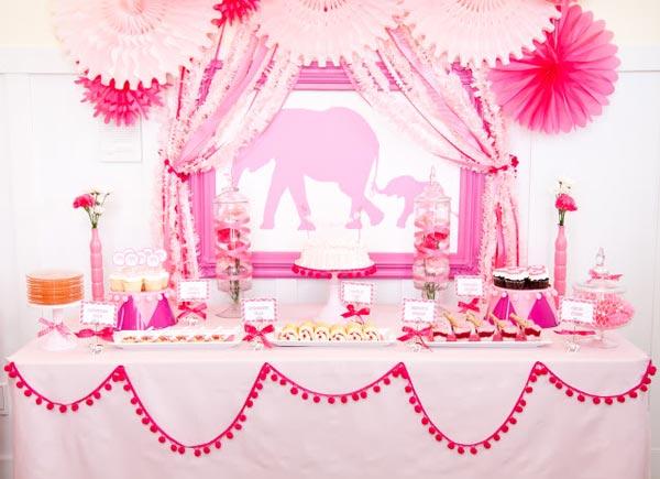 pink elephants girl baby shower 52