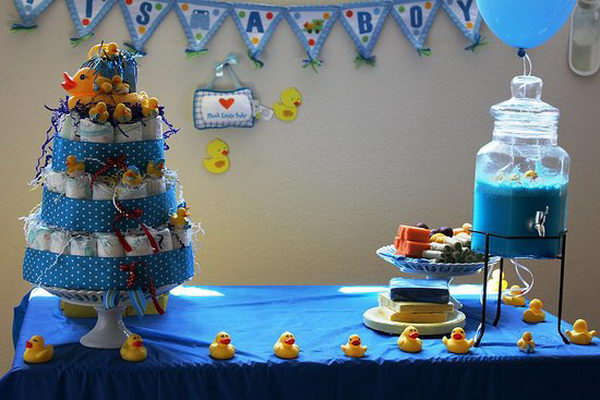 rubber ducky boy baby shower 55