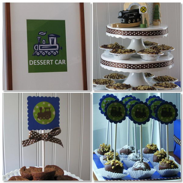 train themed baby shower 25