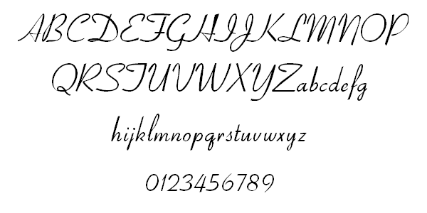 aspire cursive font 22