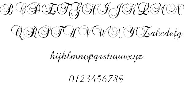 brock script font 32