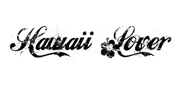 hawaii lover cursive font 41