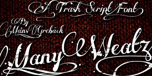 many weatz cursive font 26