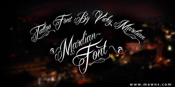 mardian cursive font 6