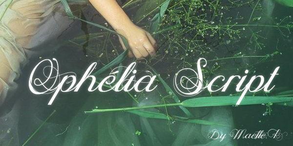 ophelia script cursive font 9
