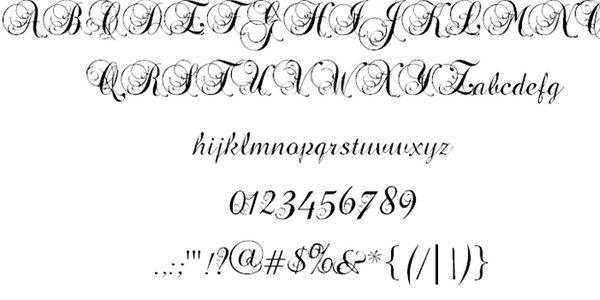 precious cursive font 29