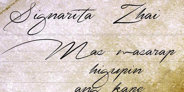 signarita zhai cursive font 8