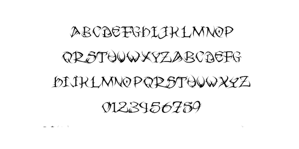 tribal tattoo font 24