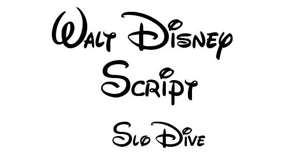 walt disney script font 19