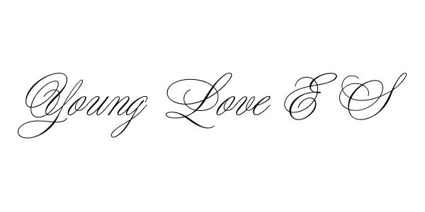young love es font 45