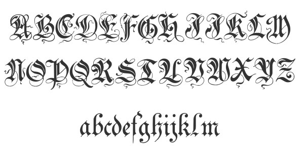 zenda cursive font 20