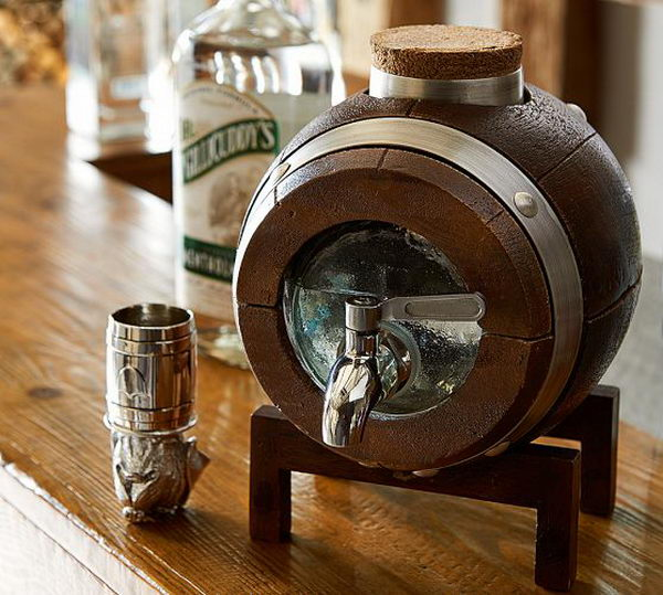barrel whiskey drink dispenser 13