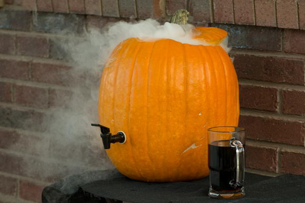 diy pumpkin drink dispenser 3