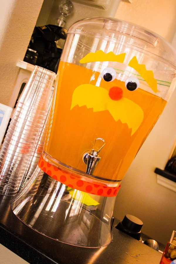 lorax drink dispenser craft 14