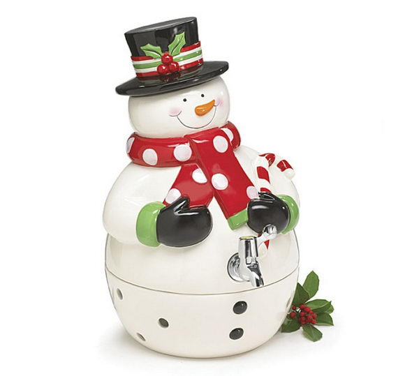 snowman shape drink dispenser 25